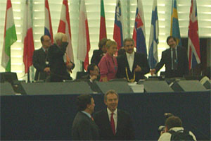 Blair with Commission President Barroso in the EP.