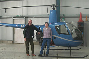 With Wendy McCartney in the hangar