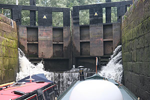 Leaking locks on the Leeds & Liverpool Canal