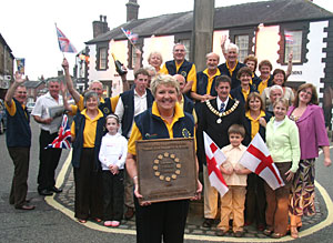 "Garstang's ""Bloomers"" with the Gold Award"