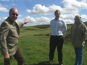 With Jake Berry (PPC Rossendale) on Bacup Moors to assist the campaign against yet another wind farm