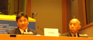 Mr T T Karma Chophel, Speaker of the Tibetan Parliament-in-Exile, addresses the Foreign Affairs Committee