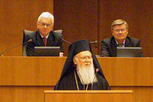 Patriarch Benjamin of Constantinople speaks to MEPs