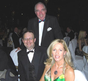 "At Bolton NE's ""Casino Royale Ball"" with Chairman, Cllr David Greenhalgh, and PPC, Deborah Dunleavy"