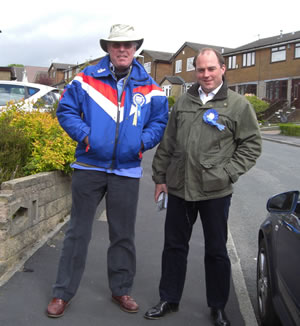 With Ben Wallace MP in Rawtenstall (Rossendale)